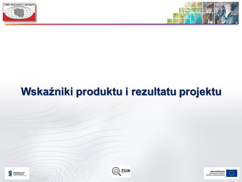 Wskaźniki produktu i rezultatu projektu