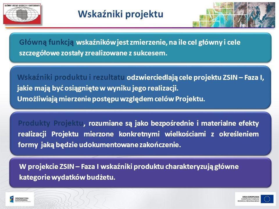 Wskaźniki projektu Główną funkcją wskaźników jest zmierzenie, na ile cel główny i cele szczegółowe zostały zrealizowane z sukcesem.