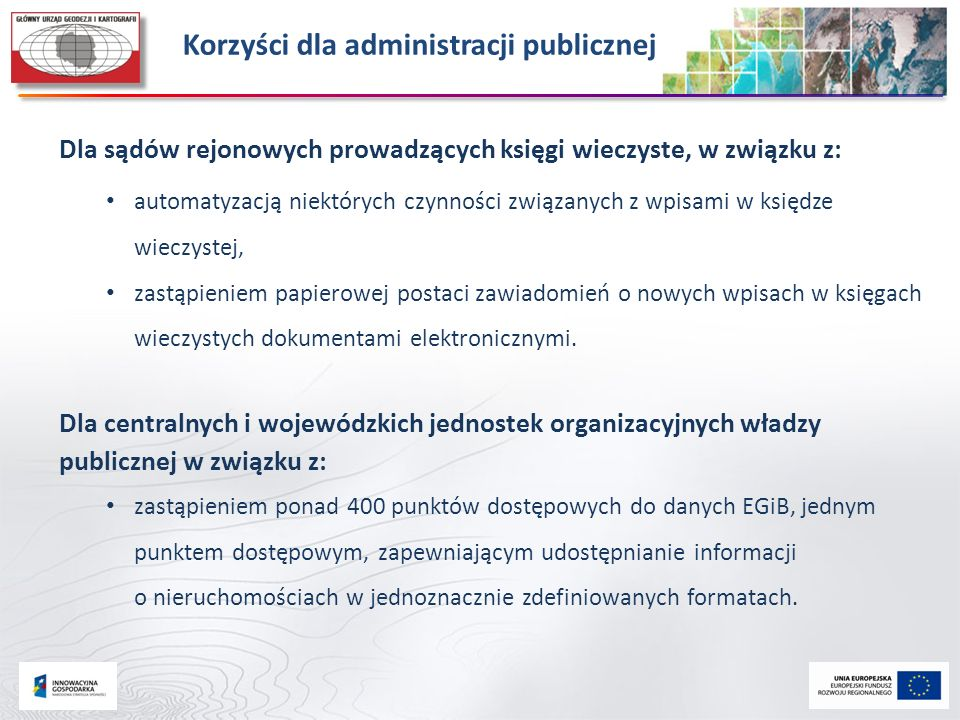 Korzyści dla administracji publicznej