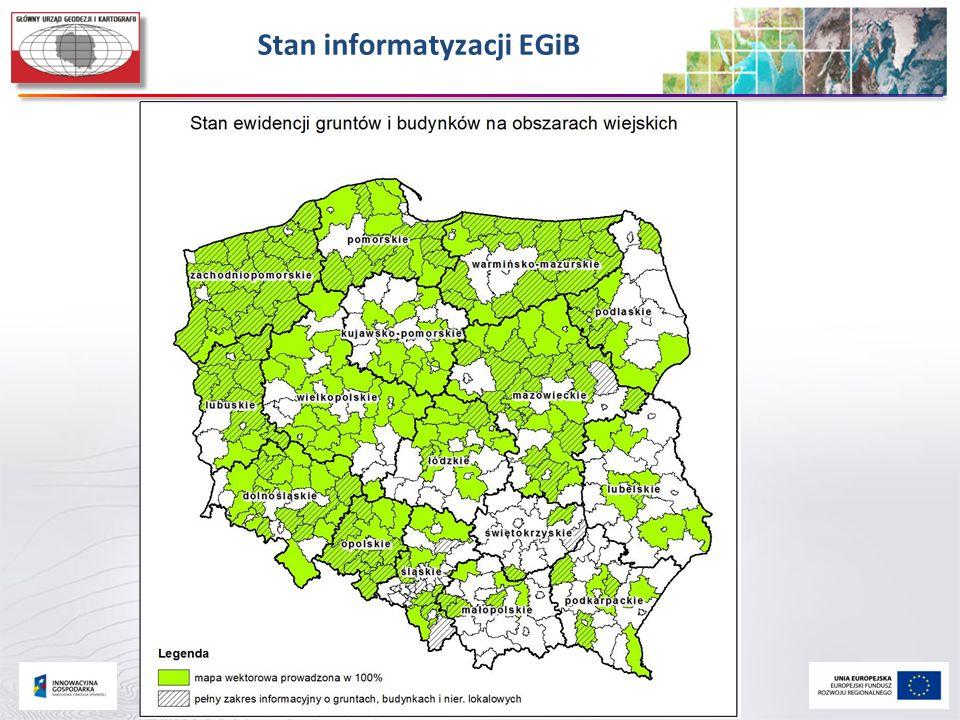 Stan informatyzacji EGiB