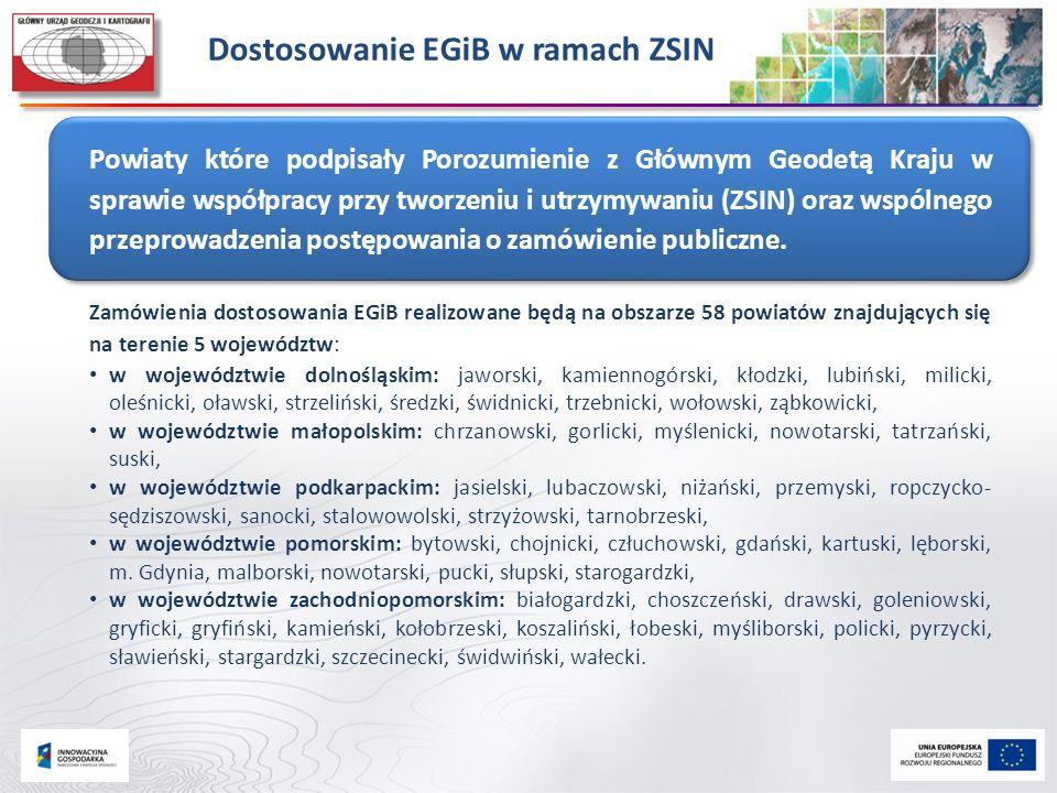 Dostosowanie EGiB w ramach ZSIN