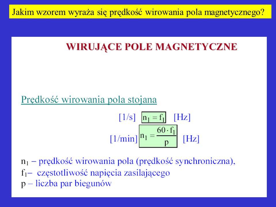 Jakim wzorem wyraża się prędkość wirowania pola magnetycznego