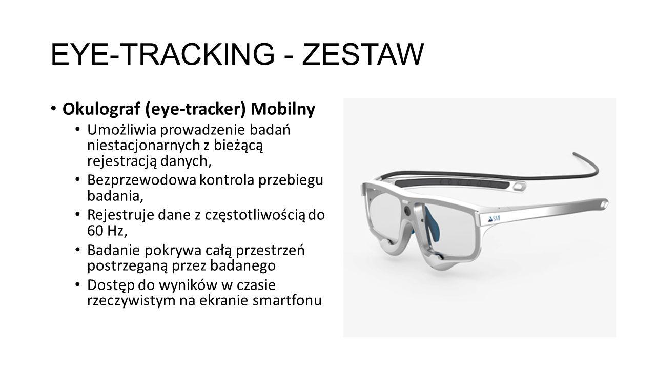 EYE-TRACKING - ZESTAW Okulograf (eye-tracker) Mobilny