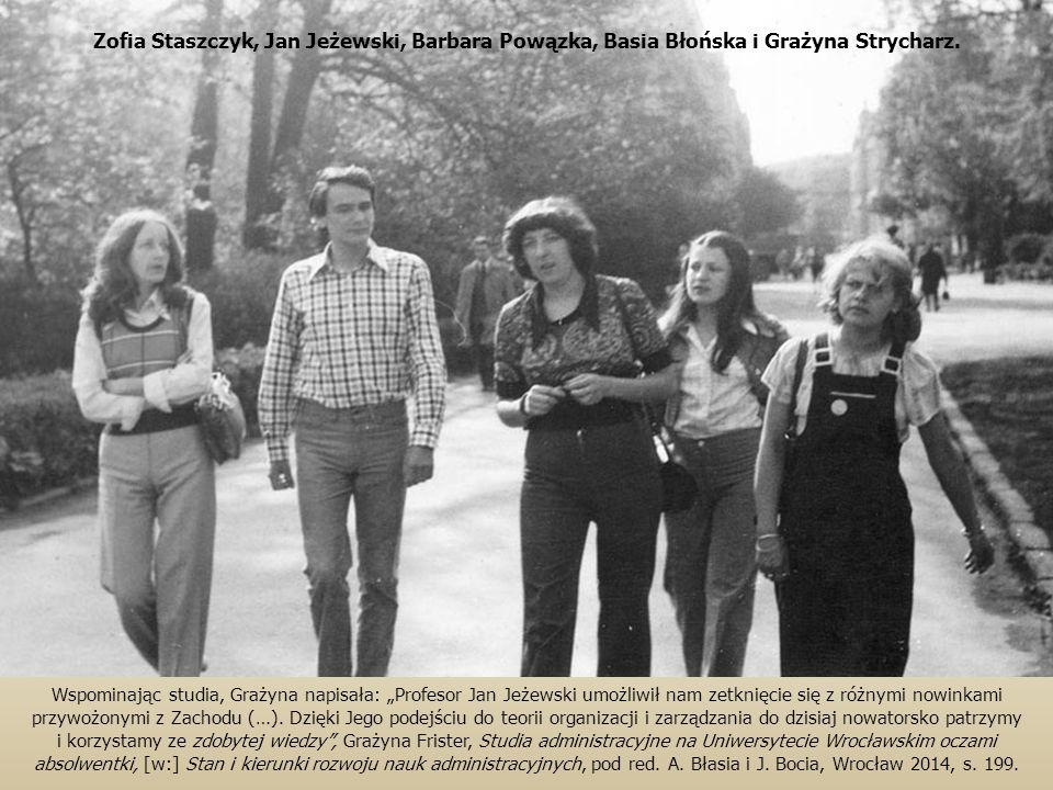 Zofia Staszczyk, Jan Jeżewski, Barbara Powązka, Basia Błońska i Grażyna Strycharz.