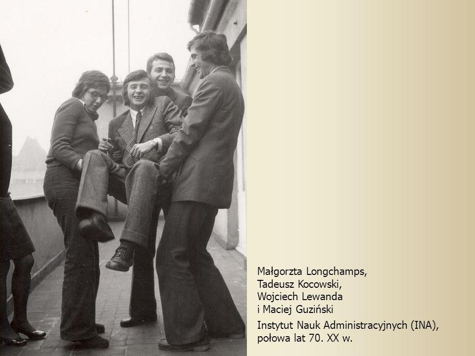Małgorzta Longchamps, Tadeusz Kocowski, Wojciech Lewanda. i Maciej Guziński. Instytut Nauk Administracyjnych (INA),