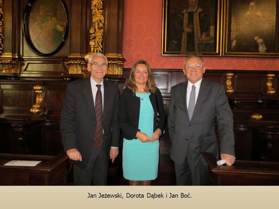 Jan Jeżewski, Dorota Dąbek i Jan Boć.