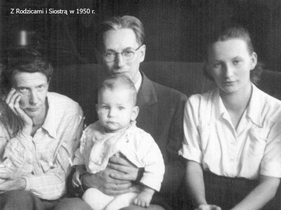 Z Rodzicami i Siostrą w 1950 r.