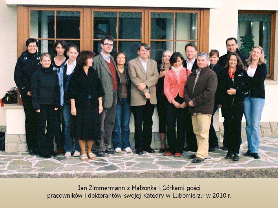 Jan Zimmermann z Małżonką i Córkami gości