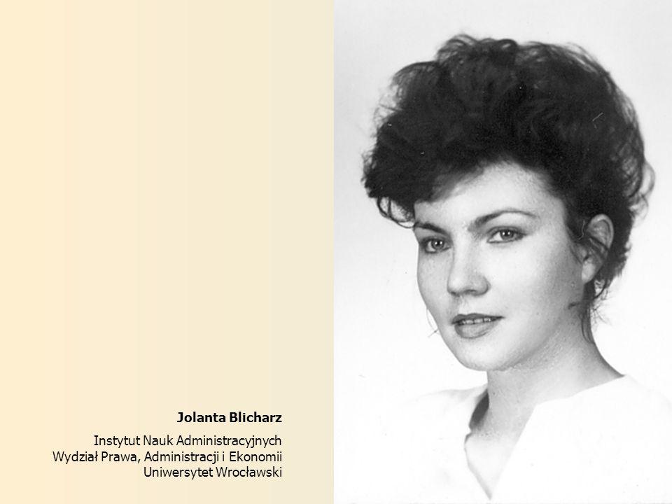 Jolanta Blicharz Instytut Nauk Administracyjnych.