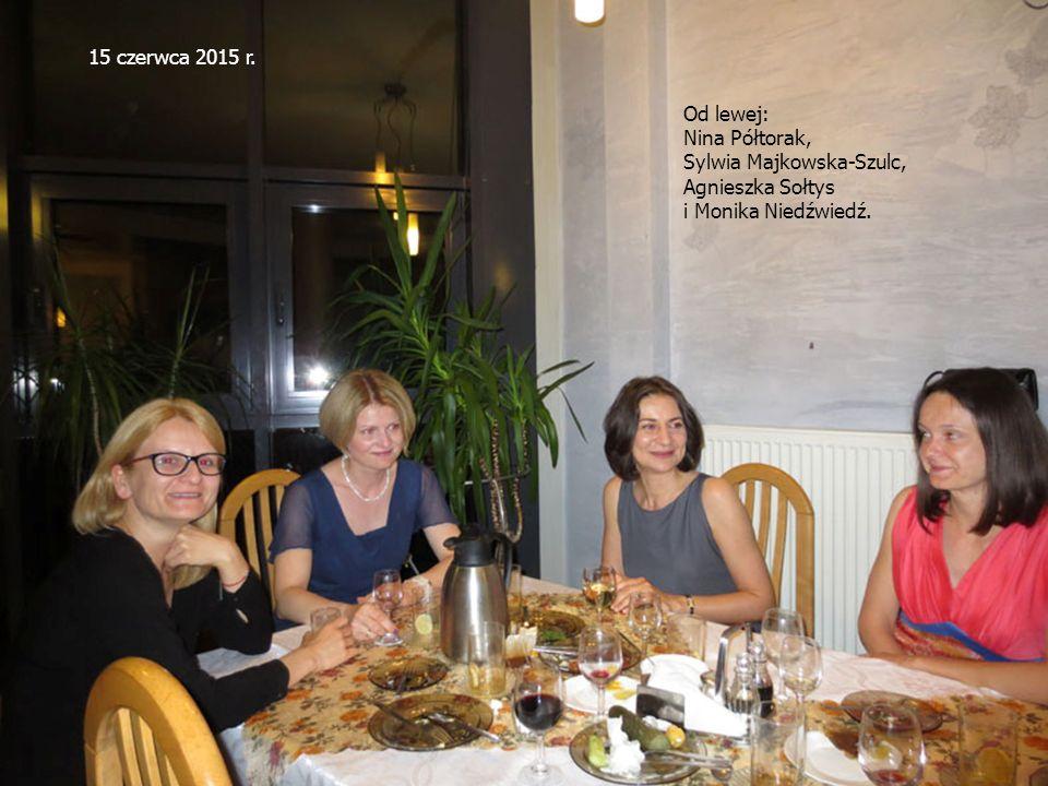 15 czerwca 2015 r. Od lewej: Nina Półtorak, Sylwia Majkowska-Szulc, Agnieszka Sołtys.