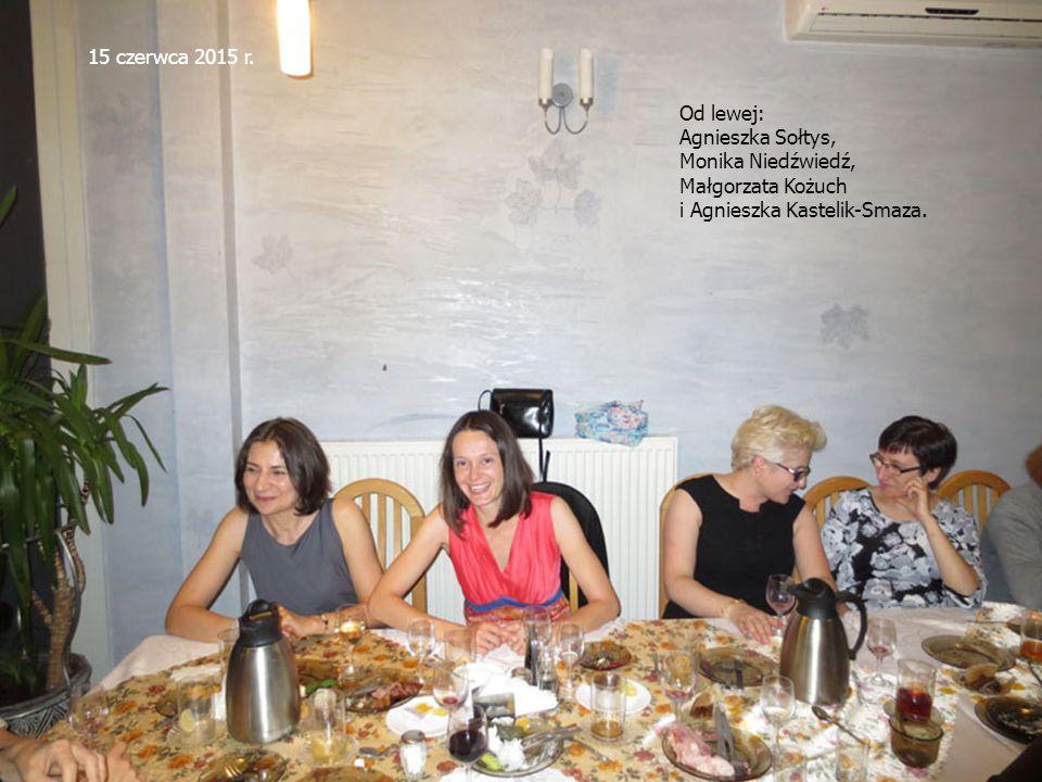 15 czerwca 2015 r. Od lewej: Agnieszka Sołtys, Monika Niedźwiedź, Małgorzata Kożuch.