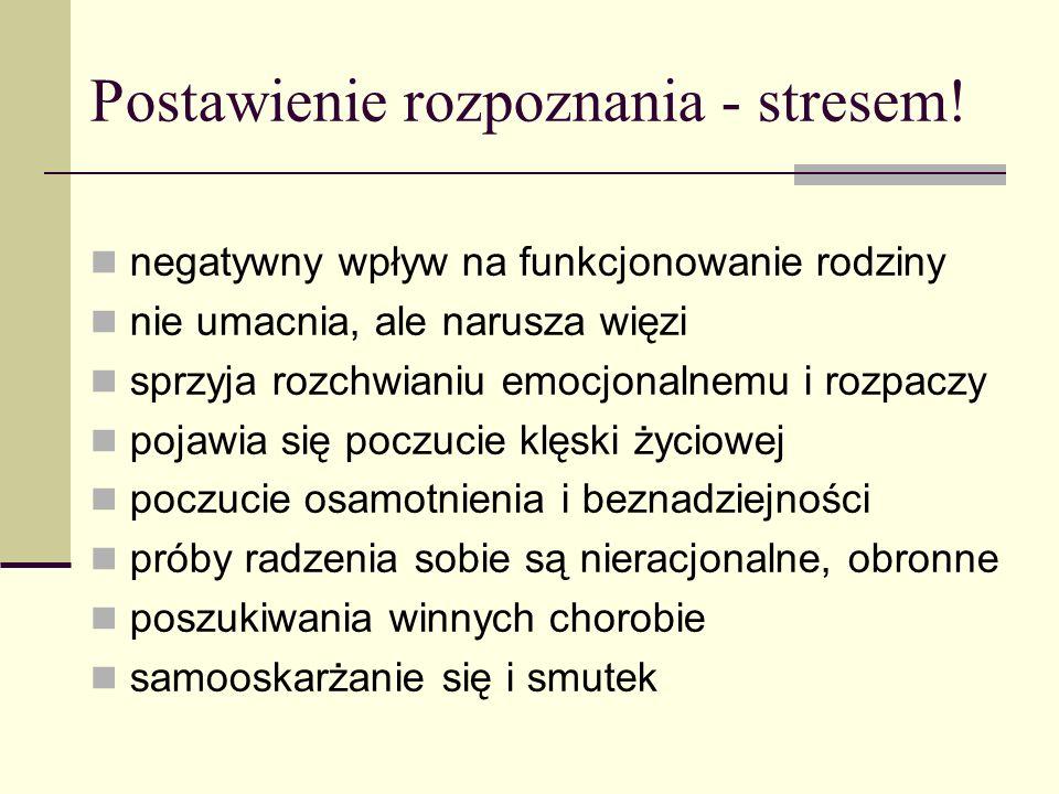 Postawienie rozpoznania - stresem!