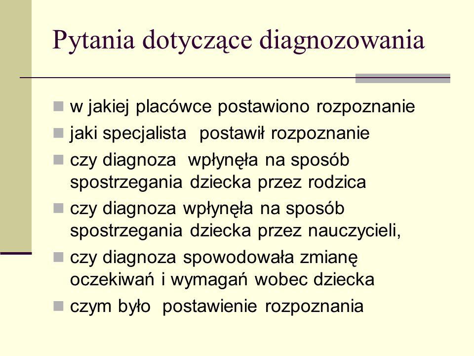 Pytania dotyczące diagnozowania