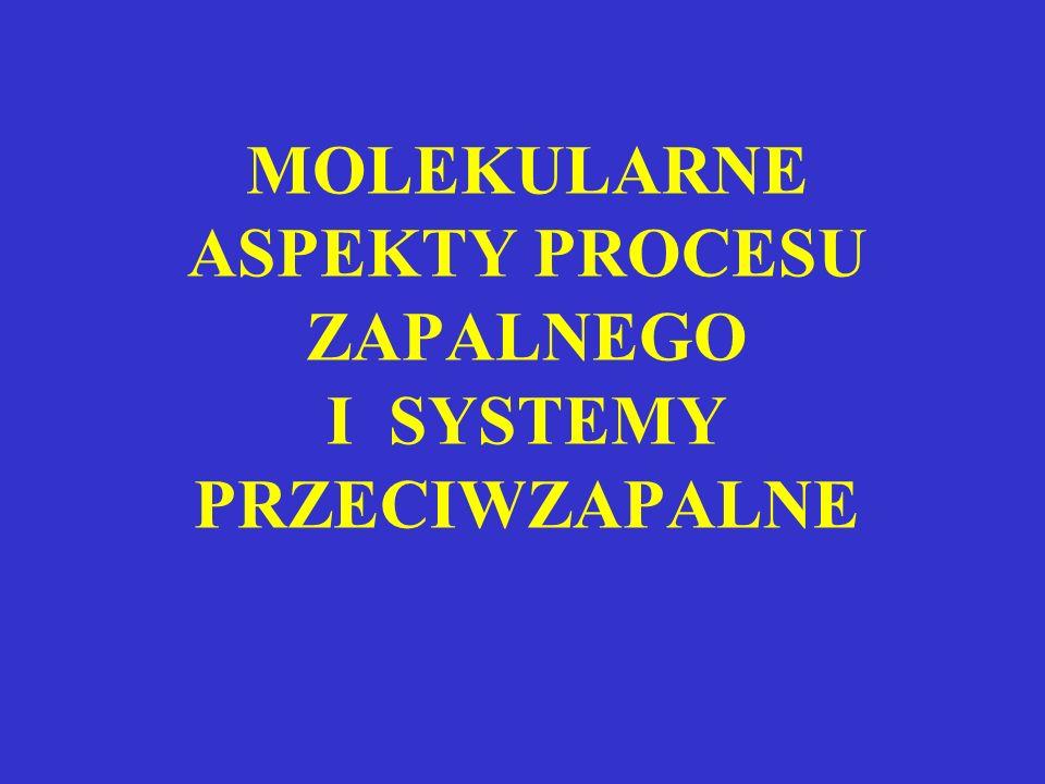 MOLEKULARNE ASPEKTY PROCESU ZAPALNEGO I SYSTEMY PRZECIWZAPALNE