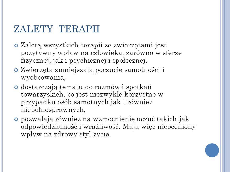 ZALETY TERAPII