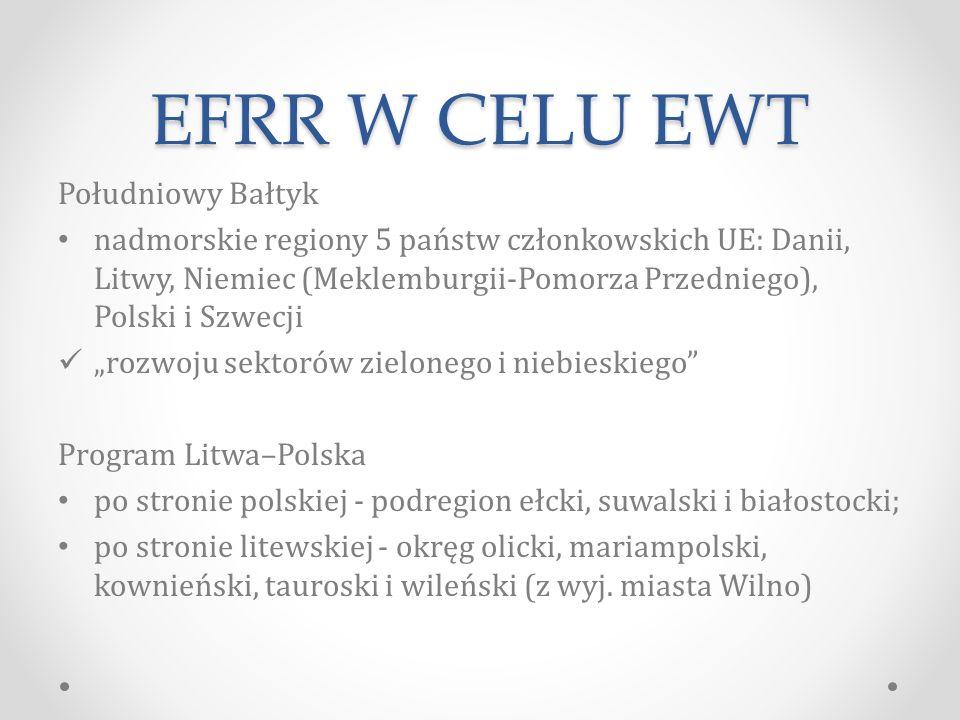EFRR W CELU EWT Południowy Bałtyk