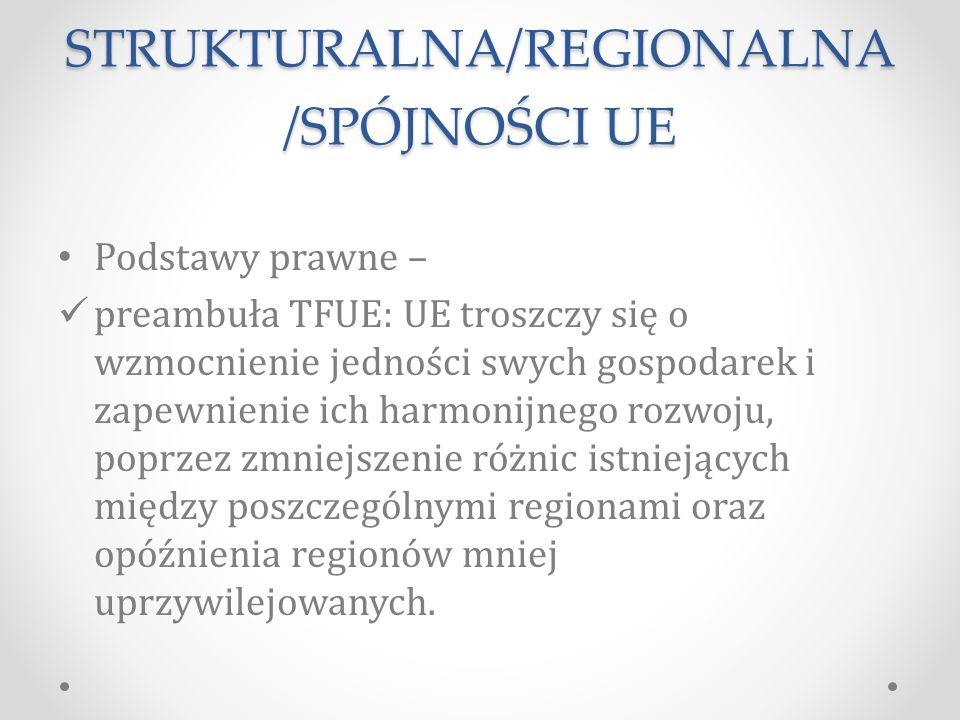 POLITYKA STRUKTURALNA/REGIONALNA/SPÓJNOŚCI UE