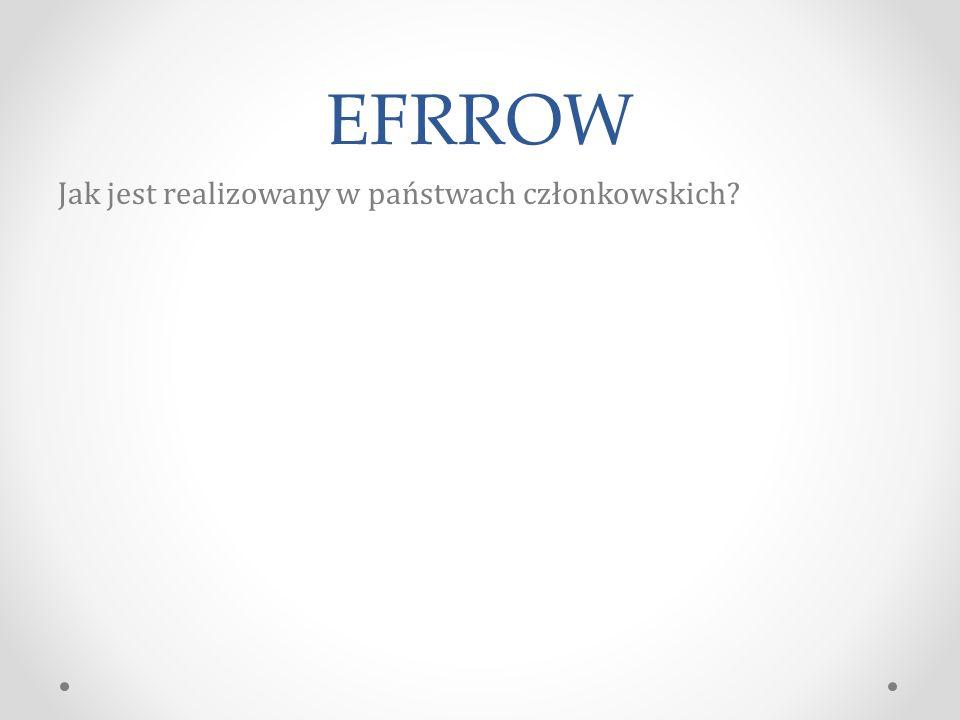EFRROW Jak jest realizowany w państwach członkowskich