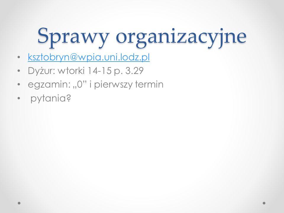 Sprawy organizacyjne ksztobryn@wpia.uni.lodz.pl