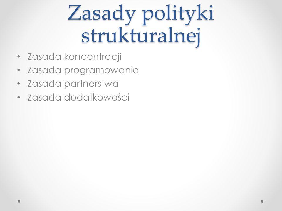Zasady polityki strukturalnej