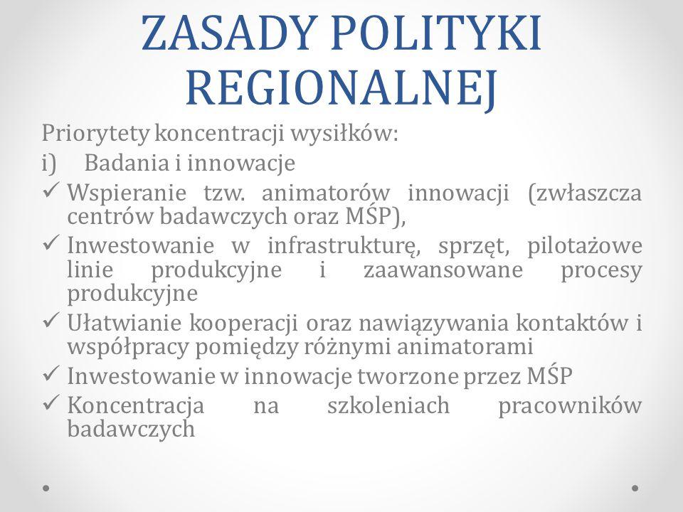 ZASADY POLITYKI REGIONALNEJ