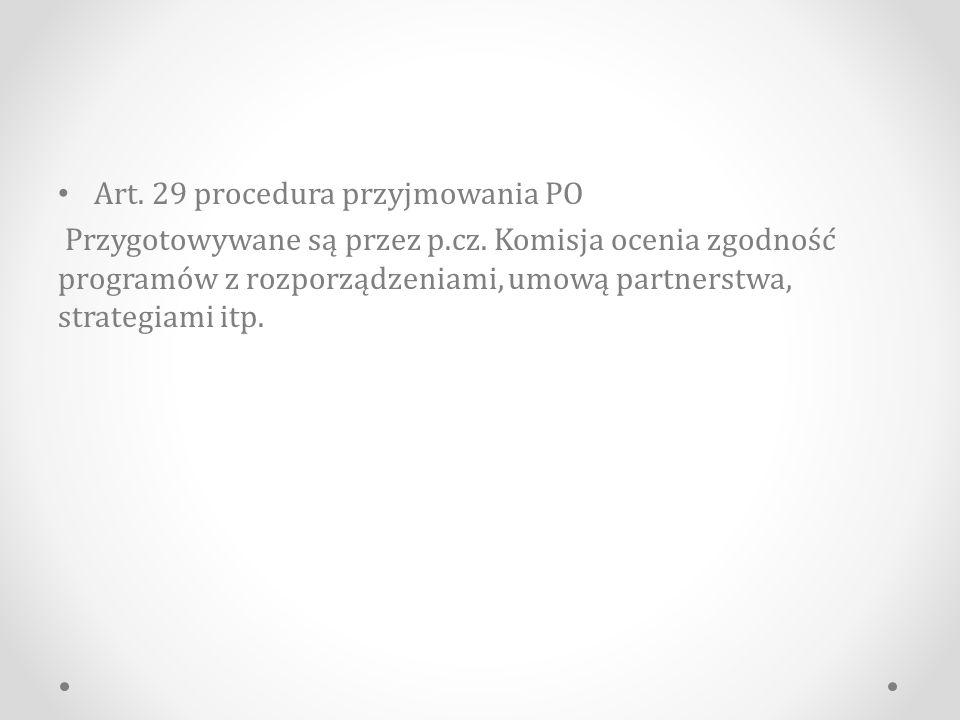 Art. 29 procedura przyjmowania PO