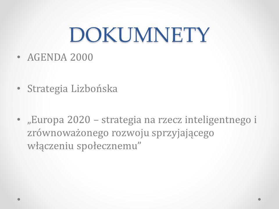 DOKUMNETY AGENDA 2000 Strategia Lizbońska
