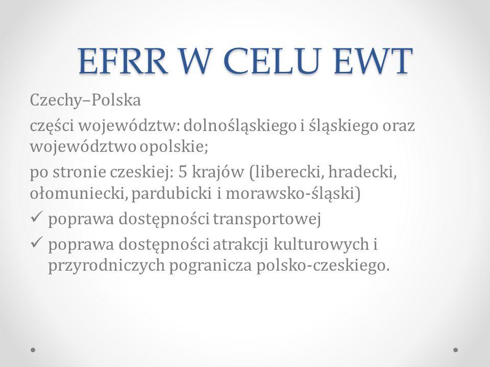 EFRR W CELU EWT Czechy–Polska