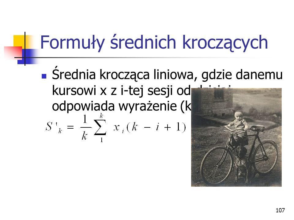 Formuły średnich kroczących