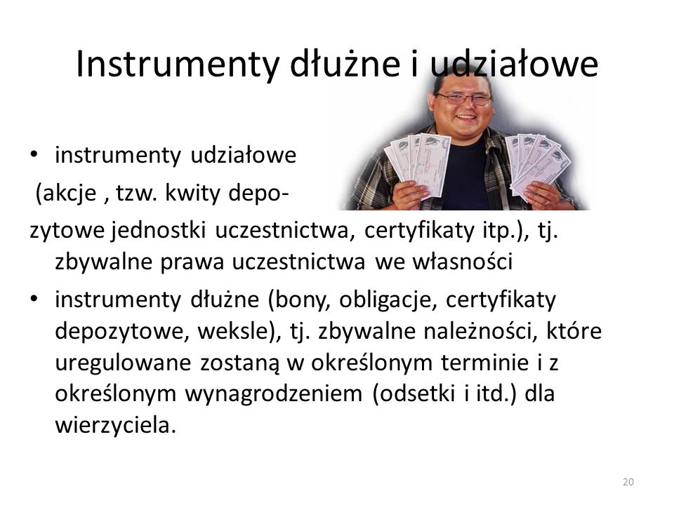 Instrumenty dłużne i udziałowe
