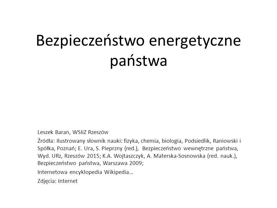 Bezpieczeństwo energetyczne państwa
