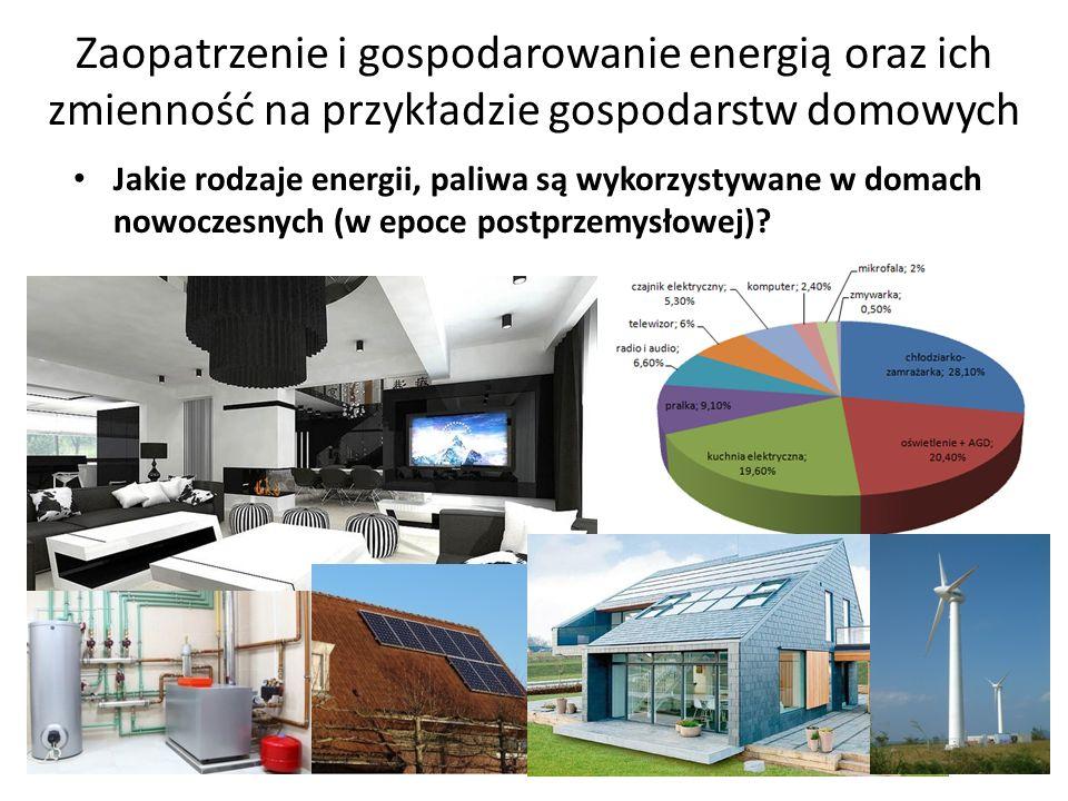 Zaopatrzenie i gospodarowanie energią oraz ich zmienność na przykładzie gospodarstw domowych
