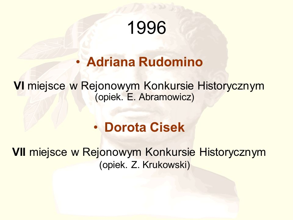 1996 Adriana Rudomino Dorota Cisek
