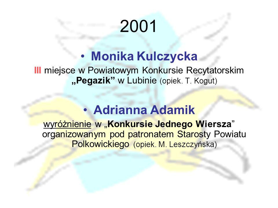 2001 Monika Kulczycka Adrianna Adamik