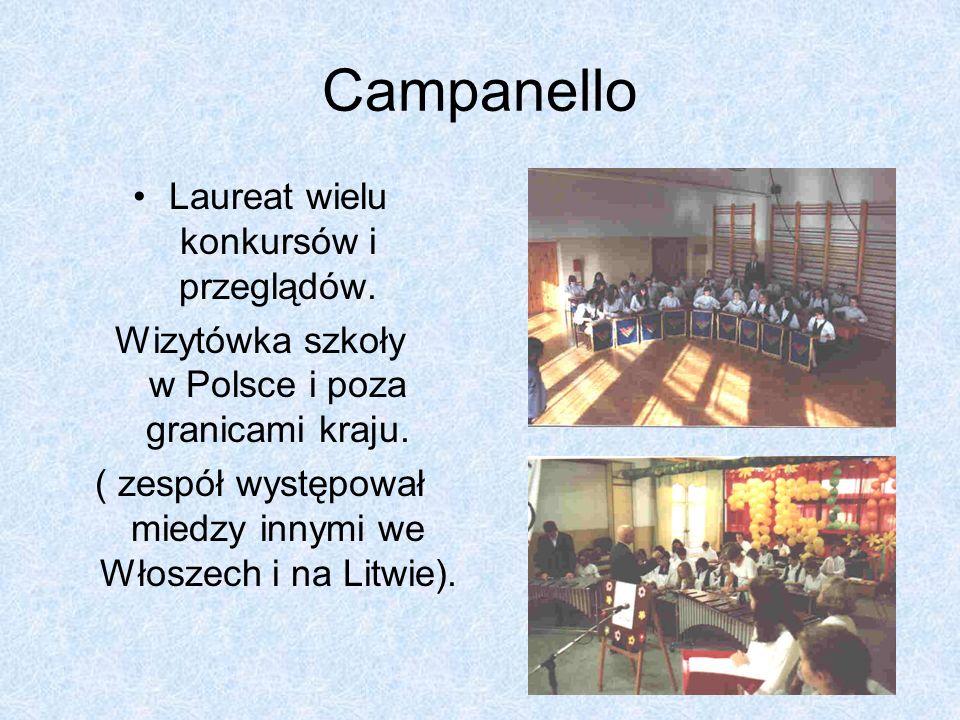 Campanello Laureat wielu konkursów i przeglądów.