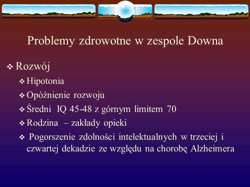 Problemy zdrowotne w zespole Downa