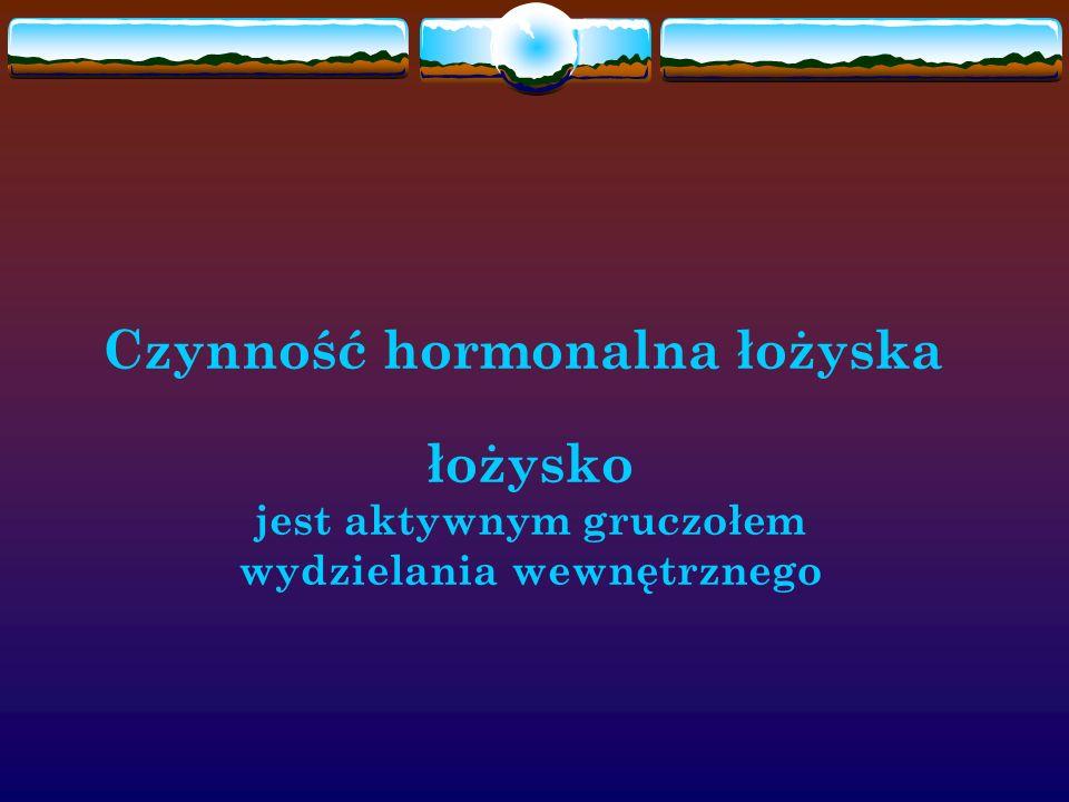 Czynność hormonalna łożyska