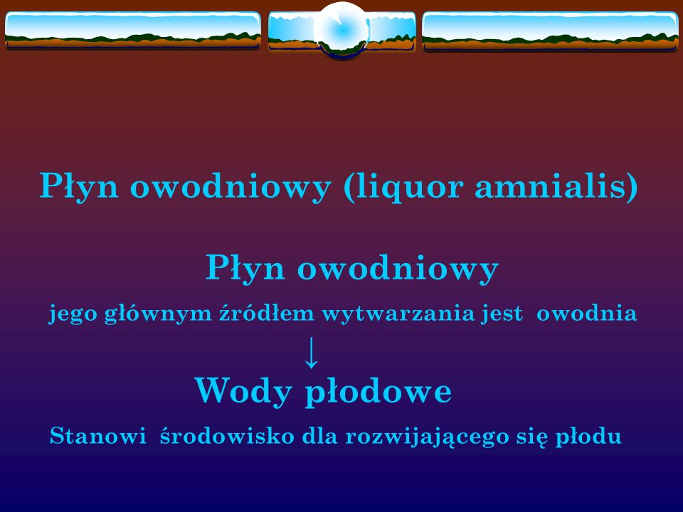Płyn owodniowy (liquor amnialis)