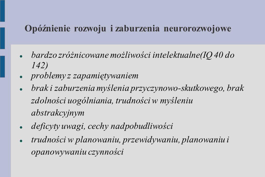 Opóźnienie rozwoju i zaburzenia neurorozwojowe