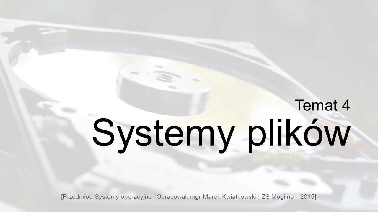 Temat 4 Systemy plików.