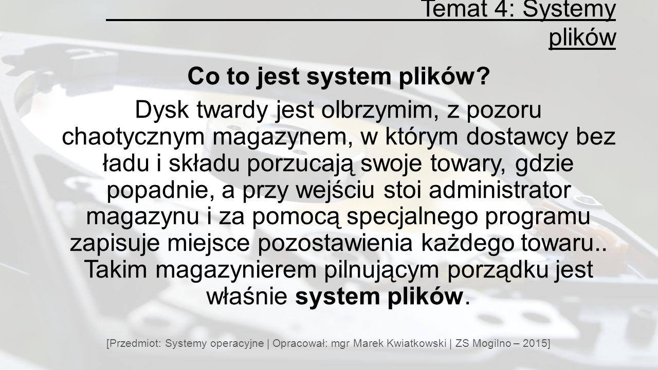 Co to jest system plików