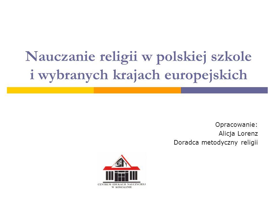 Nauczanie religii w polskiej szkole i wybranych krajach europejskich