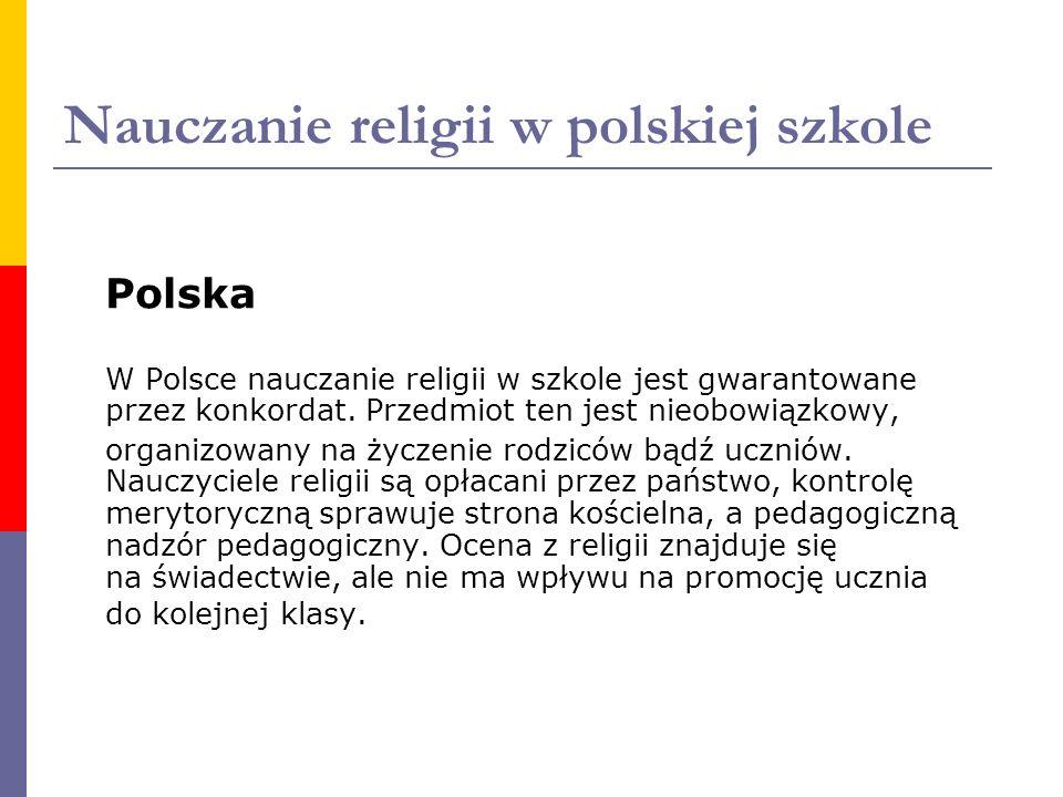 Nauczanie religii w polskiej szkole