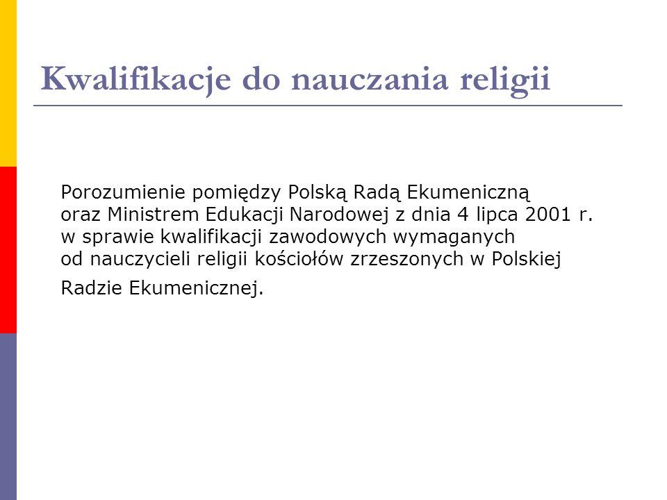 Kwalifikacje do nauczania religii
