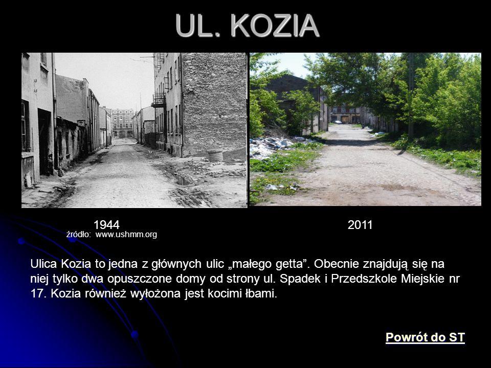 UL. KOZIA 1944. 2011. źródło: www.ushmm.org.