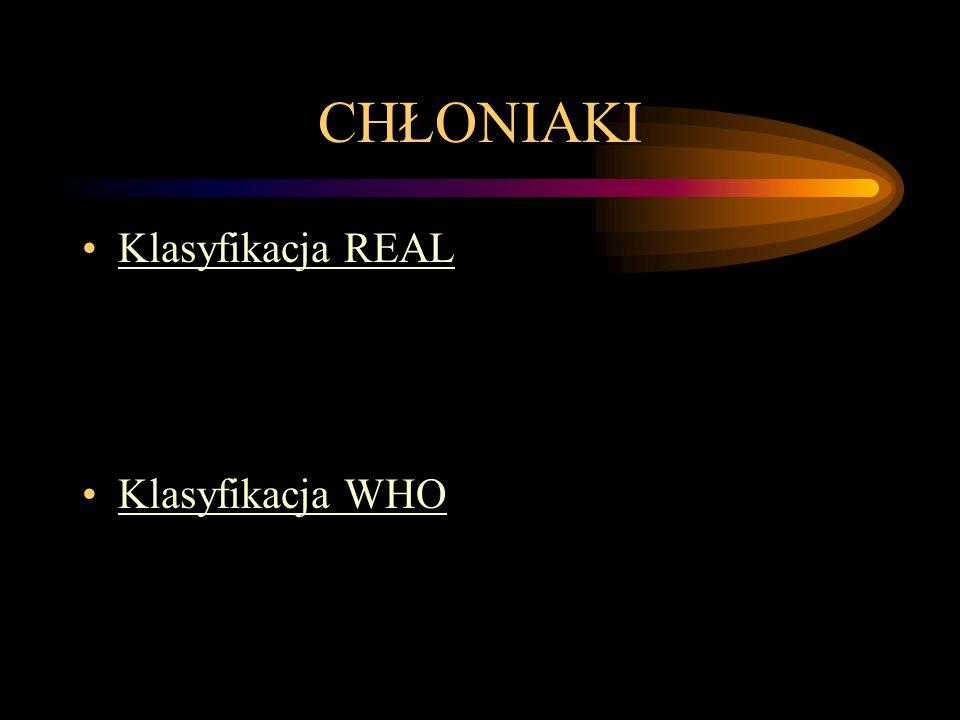 CHŁONIAKI Klasyfikacja REAL Klasyfikacja WHO