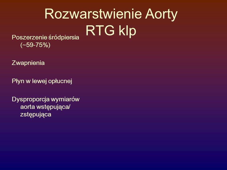 Rozwarstwienie Aorty RTG klp