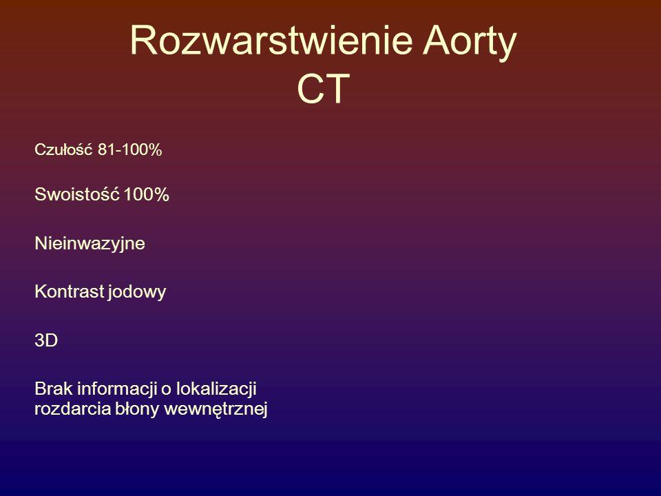 Rozwarstwienie Aorty CT