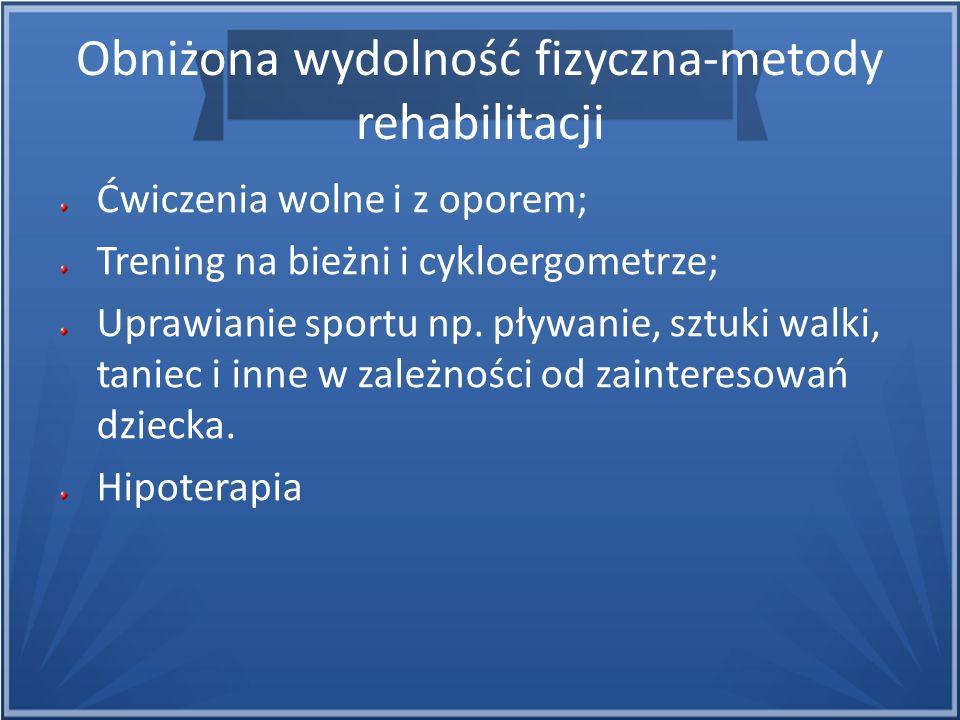 Obniżona wydolność fizyczna-metody rehabilitacji