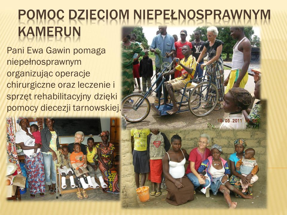 Pomoc dzieciom niepełnosprawnym Kamerun